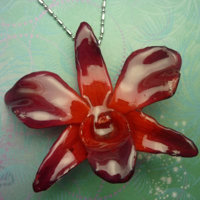 Orchid Flower - Red Purple
