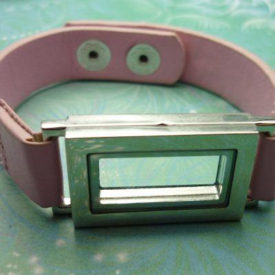 Charm Locket Bracelet – Leather Strap – Choose Colour
