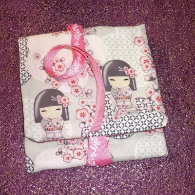 Tarot Card and Oracle Card Wrap Clutch Bag - Padded - Keepsafe - Cherry Blossom Geisha