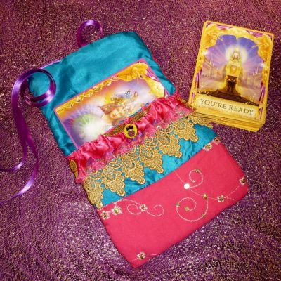 Tarot Card and Oracle Card Wrap Clutch Bag - Padded - Keepsafe - Exquisite Pink