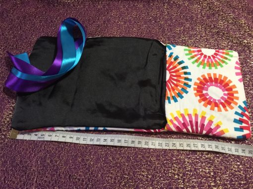 Tarot Card and Oracle Card Wrap Clutch Bag - Padded - Keepsafe - Fireworks with Purple and Blue Ribbon