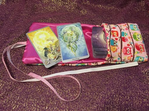 Tarot Card and Oracle Card Wrap Clutch Bag - Padded - Keepsafe - Little Owls
