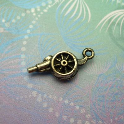 Vintage Sterling Silver Charm - Cannon