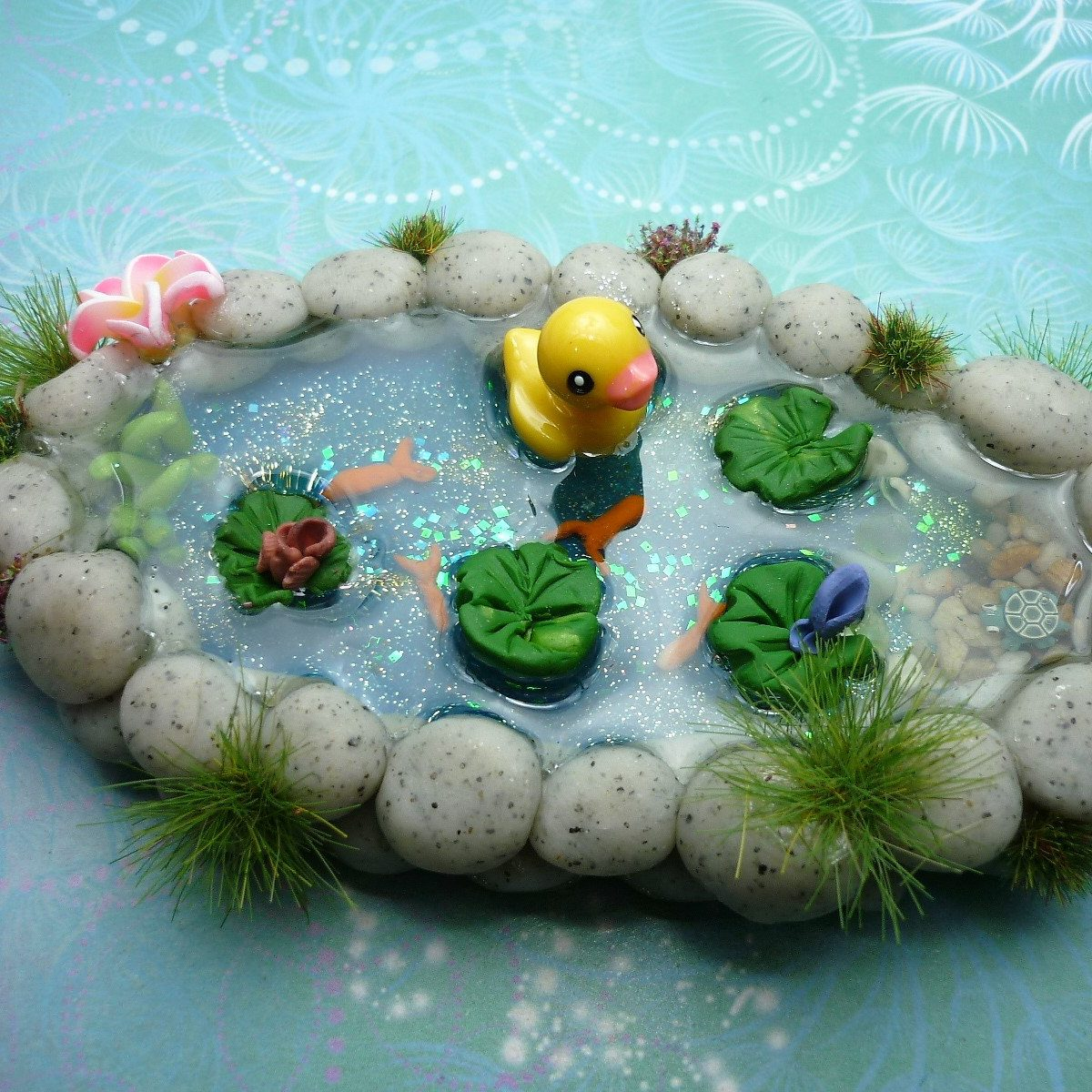 Duck Pond / Fish Pond Miniature perfect for Fairy Gardens