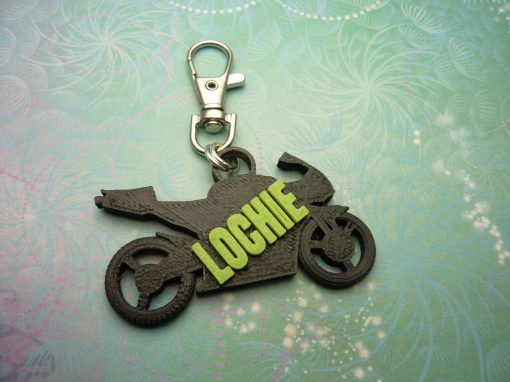 3D Printed Motorbike Key Chain - School Bag Identity Tag