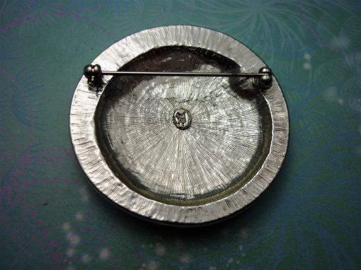 Panthur Vintage Brooch - Vintage Brooch - Marcasite - Unique Gift - Mothers Day Gift - Marcasite Brooch - Enamel Brooch