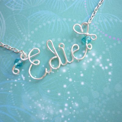 Personalized Wire Word Necklace - Wire Name Necklace - Personalized Jewelry - Personalized Name - Wire Wrapped - Custom Name Necklace
