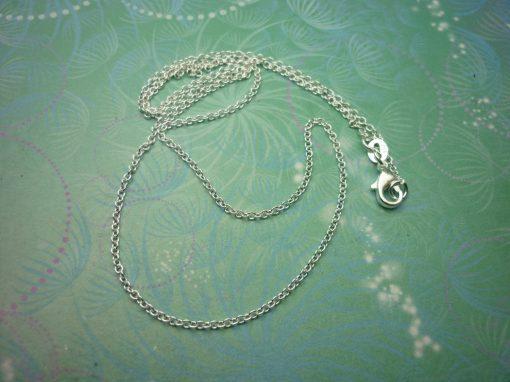 "Plain Sterling Silver Chain 18"""