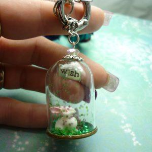 Rabbit Necklace - Bunny Necklace - Sari Silk Necklace - Rabbit Jewelry - Rabbit Pendant - Bunny Jewelry - Animal Necklace - Rabbit Charm