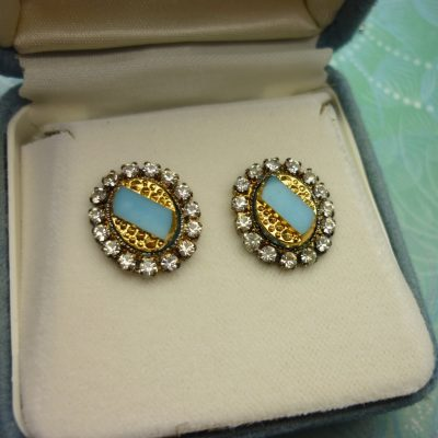Vintage Crystal Earrings -