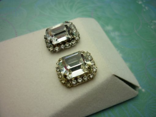 Vintage Crystal Earrings - Chunky