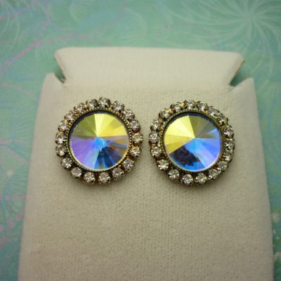 Vintage Crystal Earrings - Rivoli Crystals