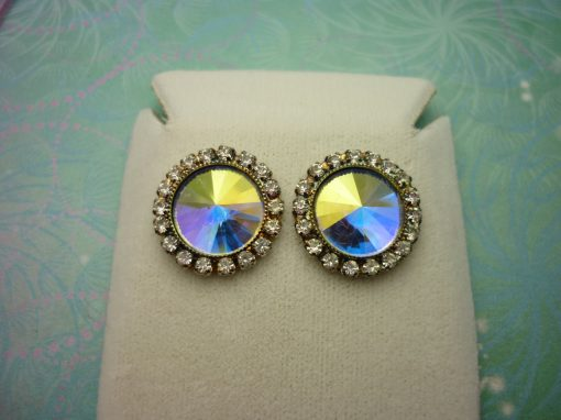 Vintage Crystal Earrings - Rivoli Crystals