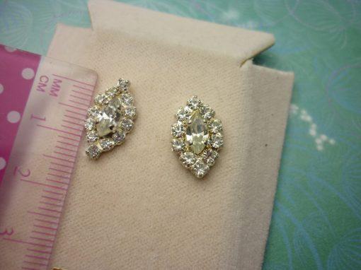 Vintage Crystal Earrings - Sparkling