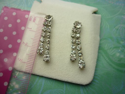 Vintage Crystal Earrings - Sparkling Crystals