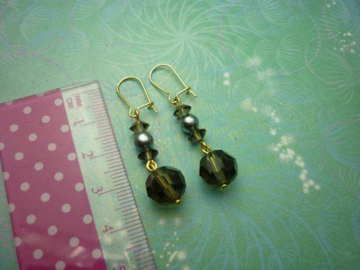 Vintage Earrings - Smokey Glass Beads