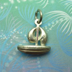 Vintage Sterling Silver Charm - Boat No.4
