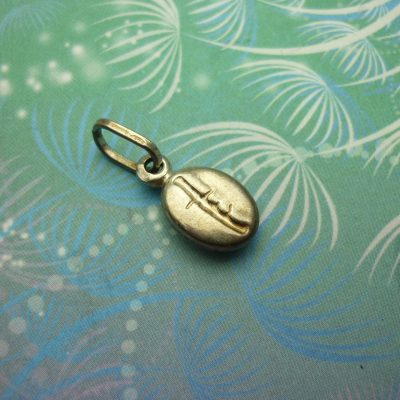 Vintage Sterling Silver Charm - Coffee Bean