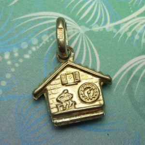Vintage Sterling Silver Charm - House