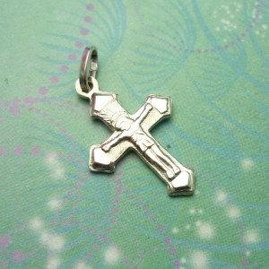 Vintage Sterling Silver Dangle Charm - Cross 3