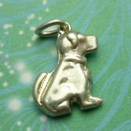 Vintage Sterling Silver Dangle Charm - Dog