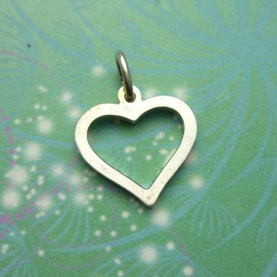 Vintage Sterling Silver Dangle Charm - Heart