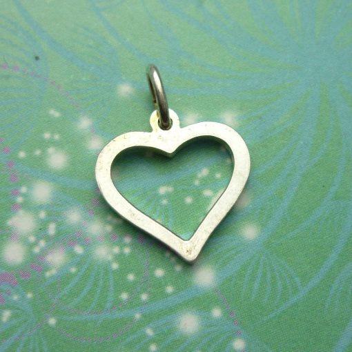Vintage Sterling Silver Dangle Charm - Heart