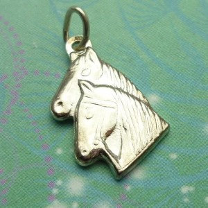 Vintage Sterling Silver Dangle Charm - Horses