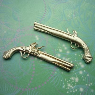 Vintage Sterling Silver Dangle Charm - Jumbo Rifle