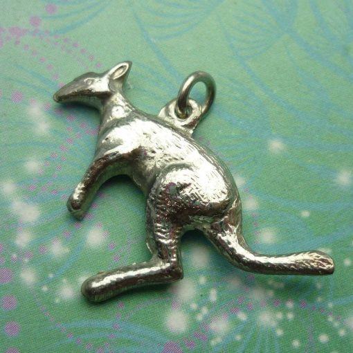 Vintage Sterling Silver Dangle Charm - Kangaroo Big