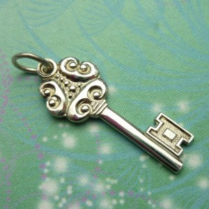 Vintage Sterling Silver Dangle Charm - Key 11