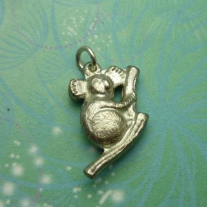 Vintage Sterling Silver Dangle Charm - Koala