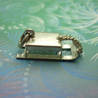 Vintage Sterling Silver Dangle Charm - Sled