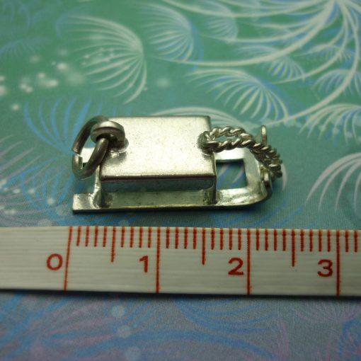 Vintage Sterling Silver Dangle Charm - Sled