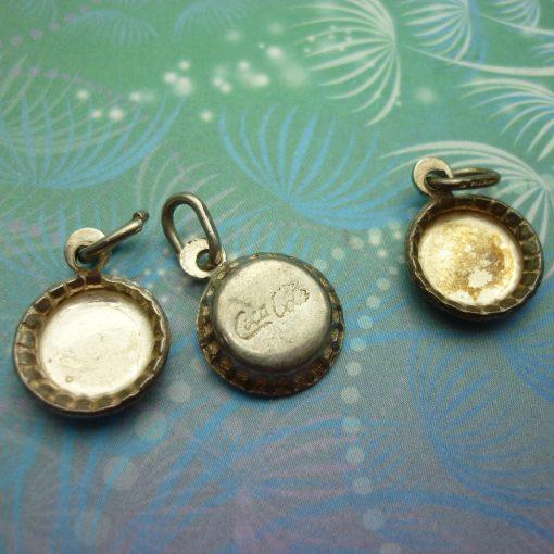 Vintage Sterling Silver Dangle Charm - Soda Bottle Lid