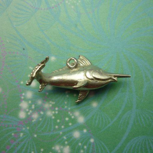 Vintage Sterling Silver Dangle Charm - Swordfish