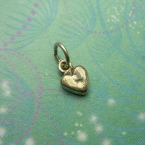 Vintage Sterling Silver Dangle Charm - Tiny Heart
