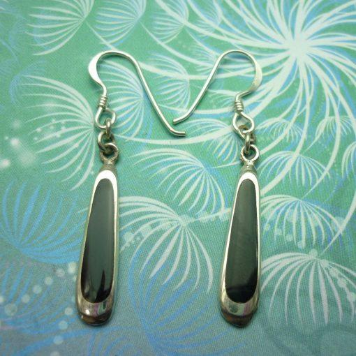 Vintage Sterling Silver Earrings - Black Onyx - Vintage Chic - Gift for Her - Black Earrings - Onyx Earrings