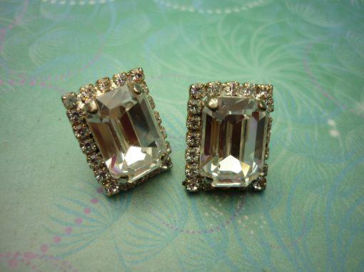 Vintage Sterling Silver Earrings - Chunky