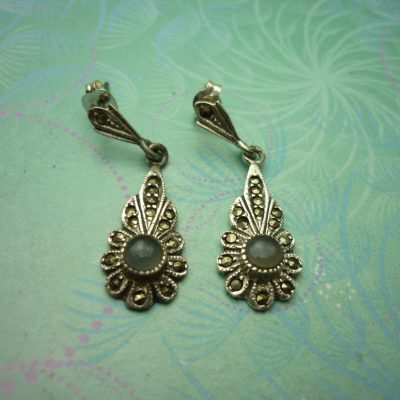 Vintage Sterling Silver Earrings - Classic