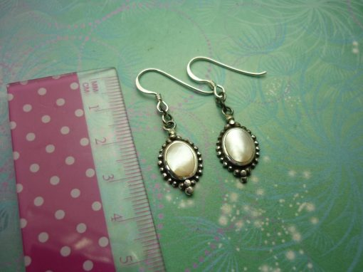 Vintage Sterling Silver Earrings - Shell