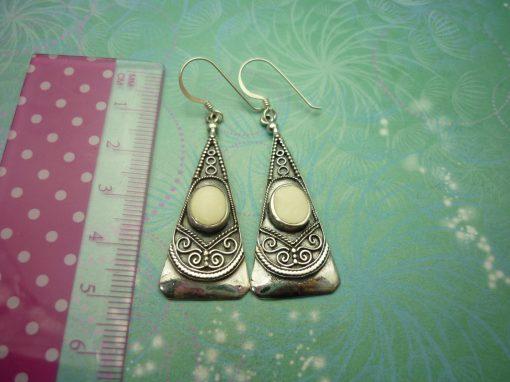 Vintage Sterling Silver Earrings - Shell style 1