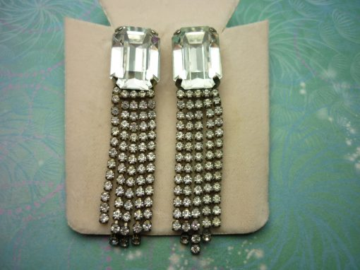 Vintage Sterling Silver Earrings - Super Sparkly