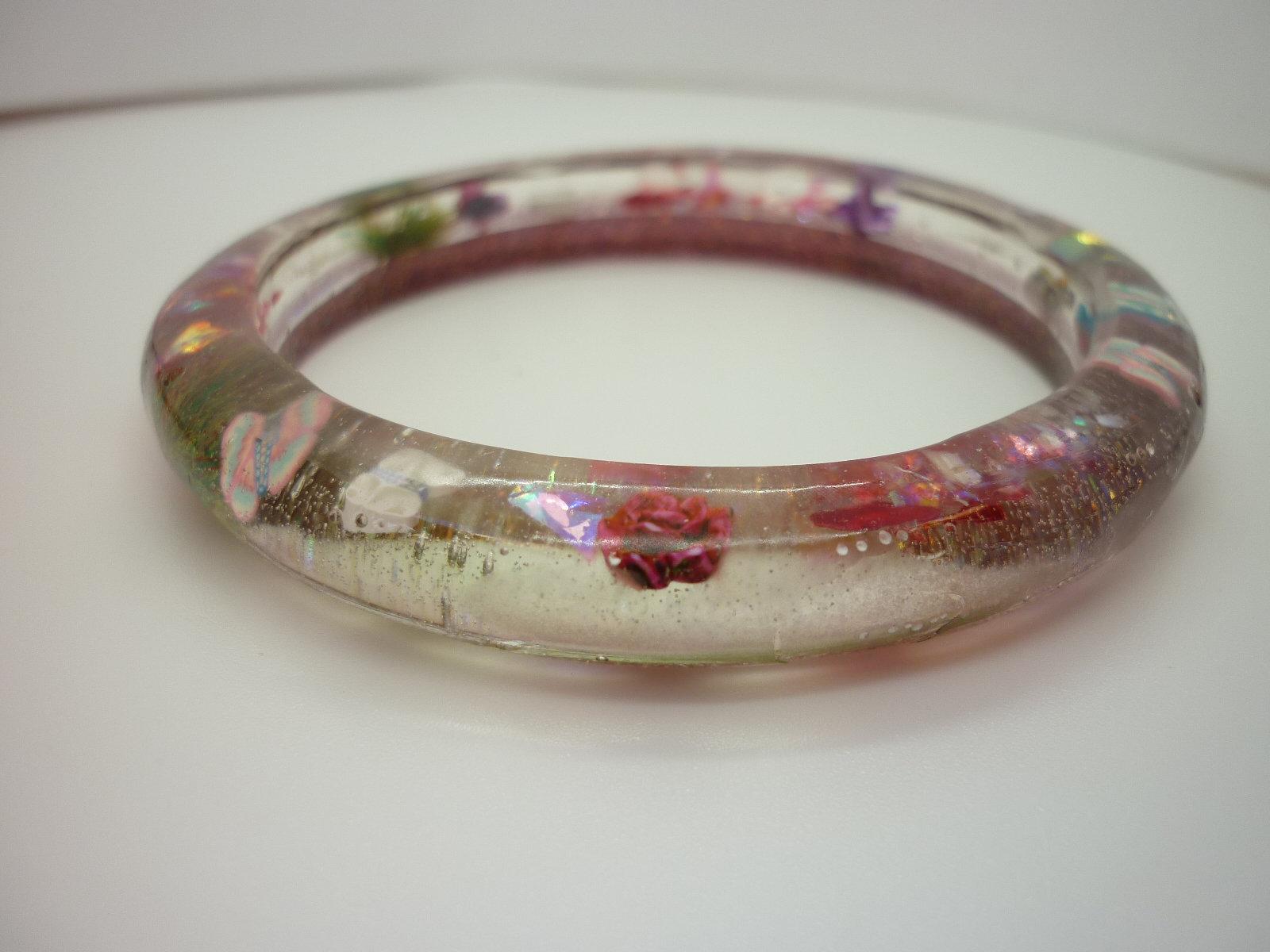 Fairy Garden Bangle Gift For Her Handmade