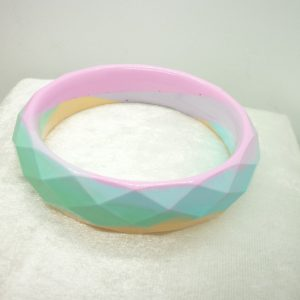 Unicorn Pastel Resin Bangle – rainbow bangle, multi colour bracelet, handmade resin bangle, birthday gift, gift for her